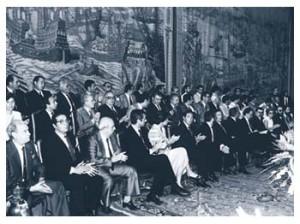 Sesión Constitutiva del Parlamento de Andalucía en el Real Alcázar de Sevilla
