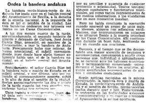 Crónica de ABC de Sevilla 20/02/1977