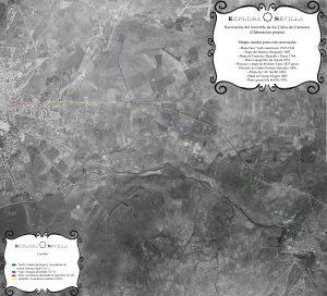 [AMPLIAR FOTO] Reconstrucción del recorrido de los Caños de Carmona.